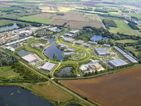 Cambridge Research Park, Aerial View